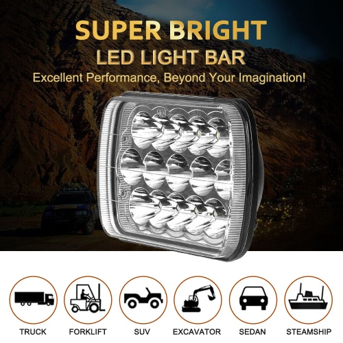 KKmoon 45W LED Car Work Light 8 Inch 3200LM Large Panel Spot Beam for Jeep 4x4 Offroad ATV Truck SUV 12V 24VCar Accessories<br>KKmoon 45W LED Car Work Light 8 Inch 3200LM Large Panel Spot Beam for Jeep 4x4 Offroad ATV Truck SUV 12V 24V<br>