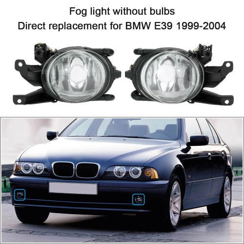 1 Pair Left &amp; Right Front Fog Light without Bulbs Replacement Kit for BMW E39 1999-2004Car Accessories<br>1 Pair Left &amp; Right Front Fog Light without Bulbs Replacement Kit for BMW E39 1999-2004<br>