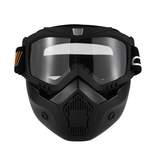 Mortorcycle Mask Detachable Goggles and Mouth Filter for Open Face Helmet Motocross Ski SnowboardCar Accessories<br>Mortorcycle Mask Detachable Goggles and Mouth Filter for Open Face Helmet Motocross Ski Snowboard<br>