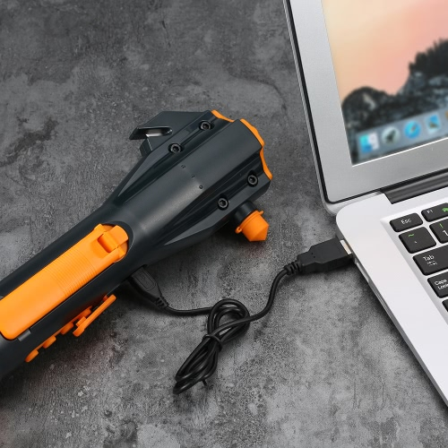 Water Resistant Rechargeable Crank Flashlight with Window Breaker Safety Belt Cutter Compass USB Cell Phone Charge and Radio RecepCar Accessories<br>Water Resistant Rechargeable Crank Flashlight with Window Breaker Safety Belt Cutter Compass USB Cell Phone Charge and Radio Recep<br>