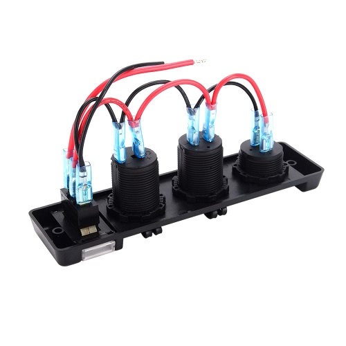 3 in 1 Marine Boat Car 3.1A Dual USB Port Cigarette Lighter 12V-24V Power SwitchCar Accessories<br>3 in 1 Marine Boat Car 3.1A Dual USB Port Cigarette Lighter 12V-24V Power Switch<br>