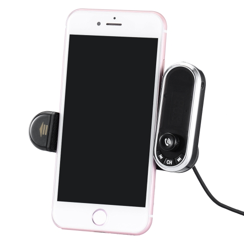 Multi BT Car Kit Phone Holder Handfree Llamando Transmisor FM con Cargador USB