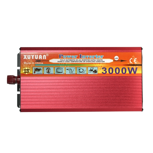3000W WATT Peak Car LED Power Inverter DC 12V to AC 110V Dual Converter ChargerCar Accessories<br>3000W WATT Peak Car LED Power Inverter DC 12V to AC 110V Dual Converter Charger<br>