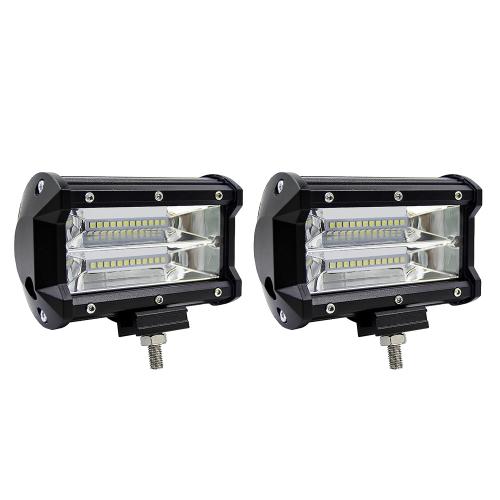 2 Pcs 5 polegada 72 W LED Barre de Lumière Spot Faisceau Travail Lumière Conduite Brouillard Lumière Éclairage Routier pour Jeep Voiture Camion SUV Bateau Marine