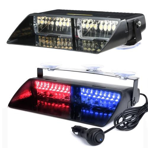 16LEDs 18 modos que destellan luz estroboscópica del tablero de destello de emergencia del camión del coche