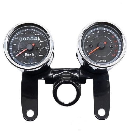 2-in-1 Motorcycle Odometer Speedometer Tachometer Speed Meter 12V for Harley  Instrument Tool of Motorbike