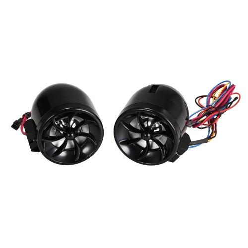MT483 Motocicleta Audio Reproductor de Música Música Altavoz Antirrobo Soporte de Alarma FM USB TF AUX Diseño de Navegación