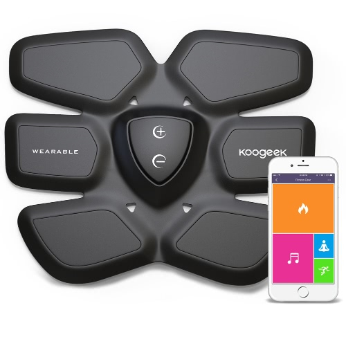 Koogeek Smart Fitness Gear Fat Burning for Abdomen Fit Training with Wireless Charging Pad App Function BlackCellphone &amp; Accessories<br>Koogeek Smart Fitness Gear Fat Burning for Abdomen Fit Training with Wireless Charging Pad App Function Black<br>