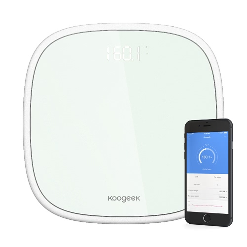 Koogeek Smart Wireless Bluetooth 4.0 Digital Body Weight Scale 16 Users Recognition with Ultra Clear Glass LED Display App WeightSmart Device &amp; Safety<br>Koogeek Smart Wireless Bluetooth 4.0 Digital Body Weight Scale 16 Users Recognition with Ultra Clear Glass LED Display App Weight<br>