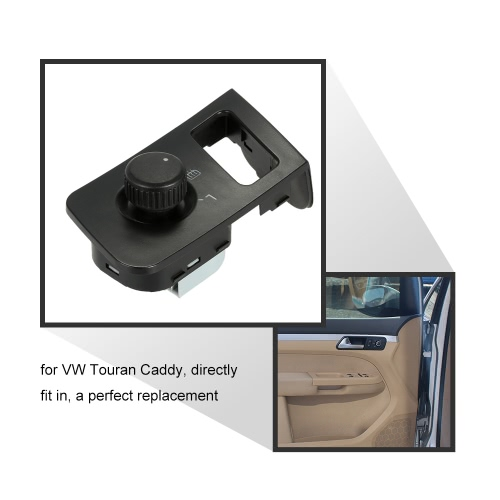 Car Side View Mirror Rear View Mirror Switch Adjust Control Knob with Heat for VW Touran CaddyCar Accessories<br>Car Side View Mirror Rear View Mirror Switch Adjust Control Knob with Heat for VW Touran Caddy<br>