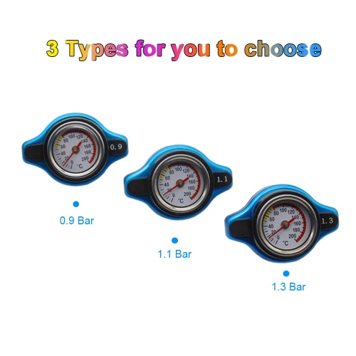 Universal Thermo Thermostatic Radiator Cap Cover with Water Temperature GaugeCar Accessories<br>Universal Thermo Thermostatic Radiator Cap Cover with Water Temperature Gauge<br>