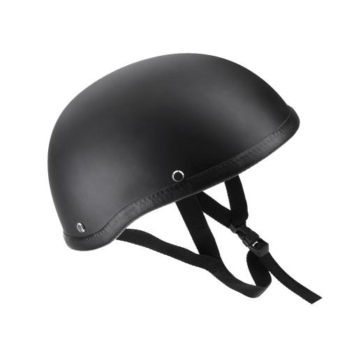 Motorcycle Half Open Face Helmet Matt Black Protection Shell Helmet for Scooter Bike