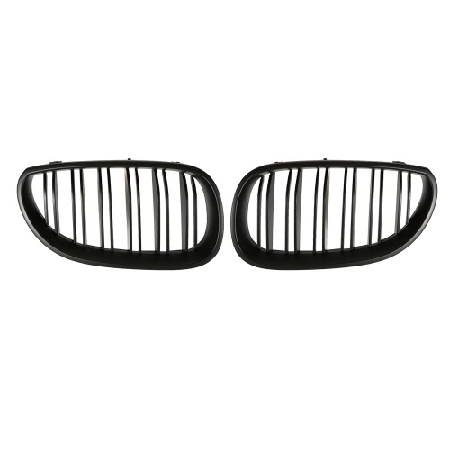 Pair of Car Center Front Grille Grilles Matt Black with Double Line for BMW E60 2003-2009Car Accessories<br>Pair of Car Center Front Grille Grilles Matt Black with Double Line for BMW E60 2003-2009<br>