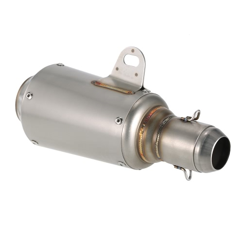 51mm Stainless Frosting Noise Reduction Refit Exhaust Muffler Pipe for Motorcycles ATVs