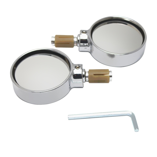 1 Pair Universal Motorcycle Scooter Aluminum Alloy Round Shape Rearview Side Mirror Modified Accessories for 22mm Exterior DiameteCar Accessories<br>1 Pair Universal Motorcycle Scooter Aluminum Alloy Round Shape Rearview Side Mirror Modified Accessories for 22mm Exterior Diamete<br>