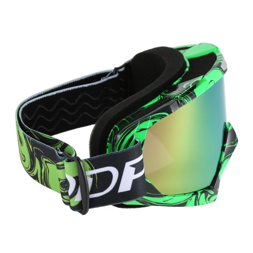 Cross-Country Motorcycle Riding Goggles Cross-Country Goggles Game Motorcycle True Semi-Permeable Membrane Cycling Glasses Green a