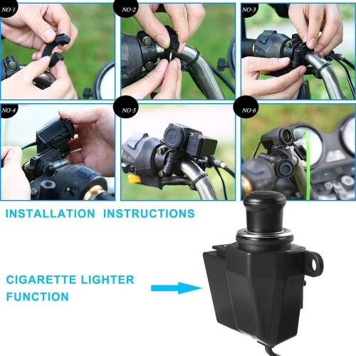 12V-24V Motorcycle 2.1A USB Waterproof Power Charger(Cannot use cigarette lighter)Car Accessories<br>12V-24V Motorcycle 2.1A USB Waterproof Power Charger(Cannot use cigarette lighter)<br>