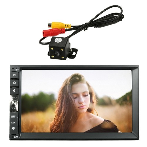 7 Inch Universal 2 Din Car Stereo Radio MP5 Player Car Multimedia Entertainment with Rearview Camera