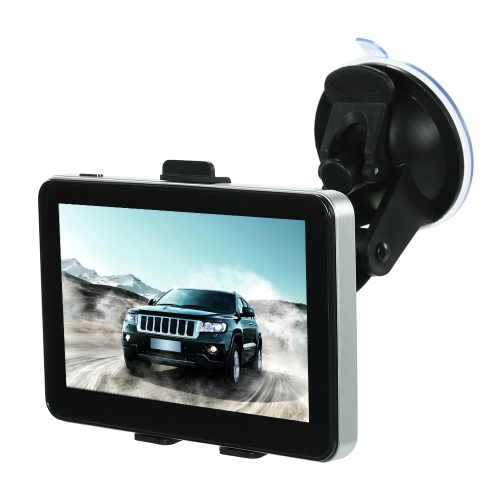 5 inch Car GPS Navigation Navigator Touchscreen Voice Announcement DDR128M + 4GB