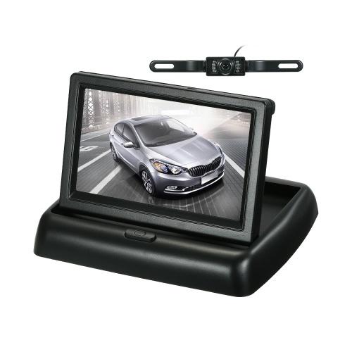 Monitor dobrável do estacionamento da tela do painel do monitor do LCD do carro da exposição de cor de 4,3 polegadas TFT