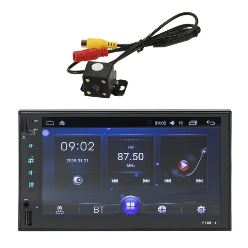 FY6511 7'' 1080P Touch Screen GPS Navigation Car Stereo MP5 MP3 PlayerSmart Android 6.0 with Wi-Fi BT AM/FM