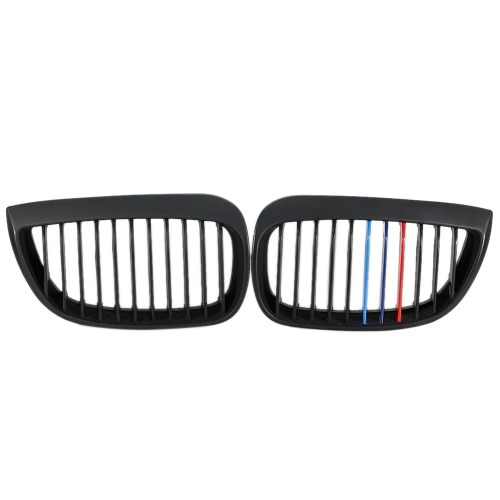 One Pair Front Matte Black M-color Grille Grilles for BMW E87 2003-2007Car Accessories<br>One Pair Front Matte Black M-color Grille Grilles for BMW E87 2003-2007<br>