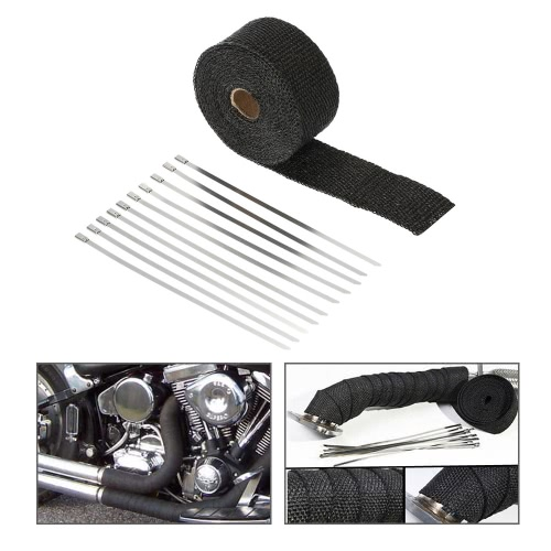 5m Exhaust Heat Wrap Turbo Pipe Heat Insulated Wrap for Car MotorcycleCar Accessories<br>5m Exhaust Heat Wrap Turbo Pipe Heat Insulated Wrap for Car Motorcycle<br>