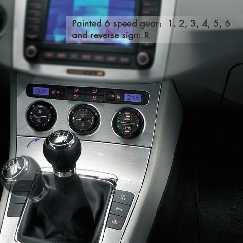 6 Speed Shift Gear Knob Boot Gaiter Frame for VW Passat B6 BlackCar Accessories<br>6 Speed Shift Gear Knob Boot Gaiter Frame for VW Passat B6 Black<br>