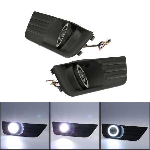 Pair of Car Lower Bumper Grille Fog Lights LED Lamp for Ford Focus 2004-2007Car Accessories<br>Pair of Car Lower Bumper Grille Fog Lights LED Lamp for Ford Focus 2004-2007<br>