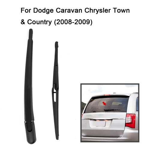 Car Rear Window Windshield Wiper Arm &amp; Blade Complete Replacement Set for Dodge Caravan Chrysler 2008-2009Car Accessories<br>Car Rear Window Windshield Wiper Arm &amp; Blade Complete Replacement Set for Dodge Caravan Chrysler 2008-2009<br>