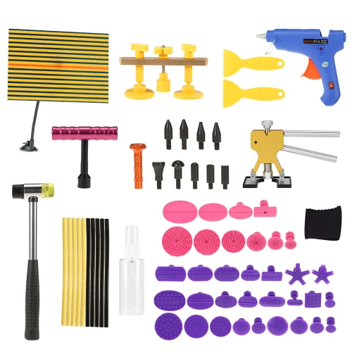 Paintless Dent Repair Tool Kit Checking Line Board Dent Lifter Puller Rubber Hammer Tap DownCar Accessories<br>Paintless Dent Repair Tool Kit Checking Line Board Dent Lifter Puller Rubber Hammer Tap Down<br>