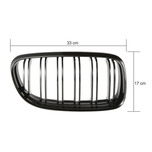 Pair of Gloss Black Car Front Grille Grilles with Double Line for BMW E90 2008-2011Car Accessories<br>Pair of Gloss Black Car Front Grille Grilles with Double Line for BMW E90 2008-2011<br>