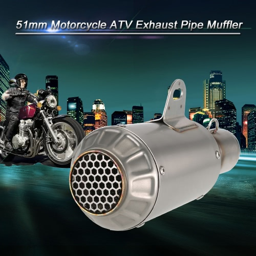 51mm Refit Muffler Pipe Blueing Stainless Steel Extended Exhaust Muffler Tail Pipe Universal for Motorcycle ATVCar Accessories<br>51mm Refit Muffler Pipe Blueing Stainless Steel Extended Exhaust Muffler Tail Pipe Universal for Motorcycle ATV<br>