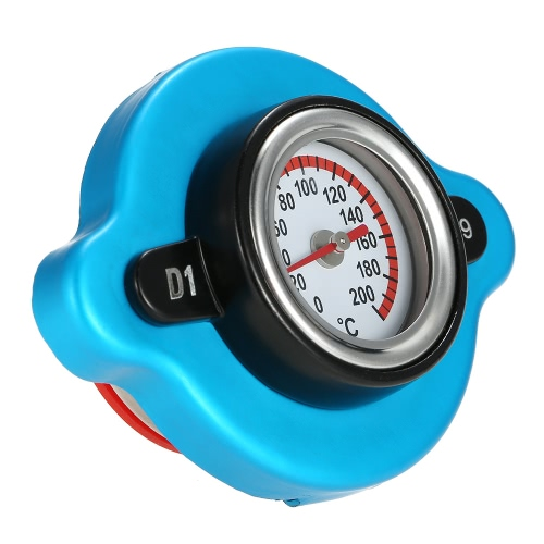 0.9 Bar Thermostatic Radiator Cap Cover with Water Temp Temperature Gauge for Truck Forklift TrailerCar Accessories<br>0.9 Bar Thermostatic Radiator Cap Cover with Water Temp Temperature Gauge for Truck Forklift Trailer<br>