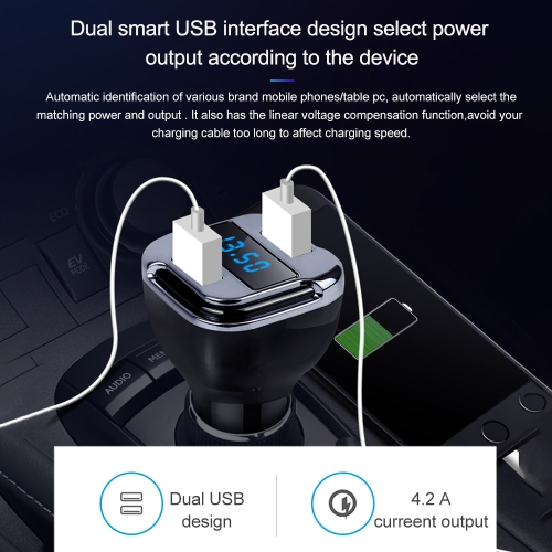 GPS Locate E5 Dual USB Port Fast Charger DC 5V/12V/24V For Phone AdapterCar Accessories<br>GPS Locate E5 Dual USB Port Fast Charger DC 5V/12V/24V For Phone Adapter<br>