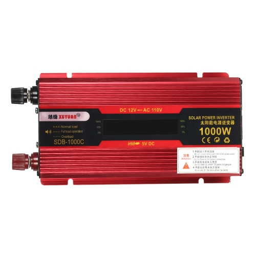 1000W WATT Peak Car LED Power Inverter DC 12V to AC 110V Dual Converter ChargerCar Accessories<br>1000W WATT Peak Car LED Power Inverter DC 12V to AC 110V Dual Converter Charger<br>