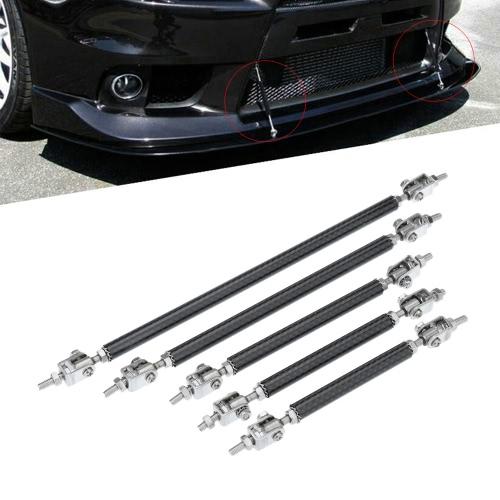 2 X Adjustable Front Bumper Lip Splitter Strut Tie Bar Support Rod 75-200mm CarbonCar Accessories<br>2 X Adjustable Front Bumper Lip Splitter Strut Tie Bar Support Rod 75-200mm Carbon<br>