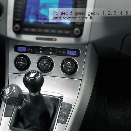 5 Speed Gear Shift Knob Stick Boot Gaiter Frame for VW Passat B6 BlackCar Accessories<br>5 Speed Gear Shift Knob Stick Boot Gaiter Frame for VW Passat B6 Black<br>