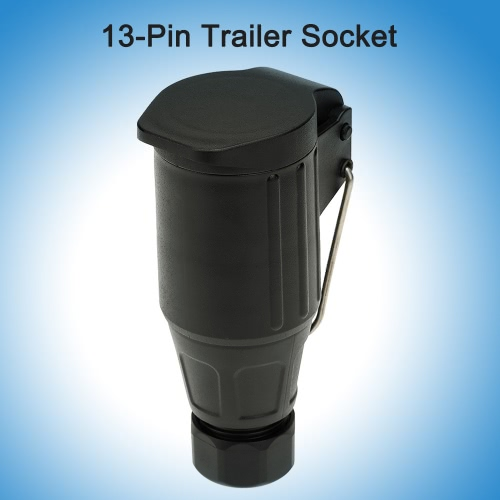 Frosted Material 13-Pin Trailer Socket 12V 13-Pole Tow Bar Towing Socket N Type-Vehicle End with HookCar Accessories<br>Frosted Material 13-Pin Trailer Socket 12V 13-Pole Tow Bar Towing Socket N Type-Vehicle End with Hook<br>