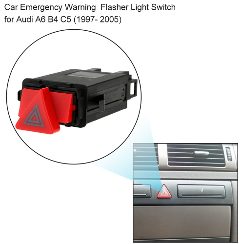 Hazard Emergency Flasher Warning Light Switch 4B0941509D for Audi A6 B4 C5Car Accessories<br>Hazard Emergency Flasher Warning Light Switch 4B0941509D for Audi A6 B4 C5<br>