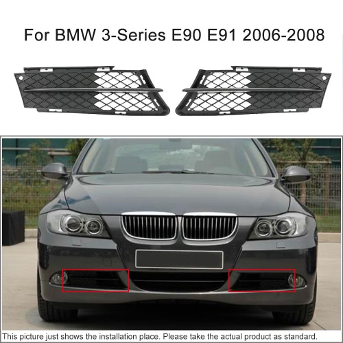 Pair of Front Bumper Lower Side Grill Air Flow Exterior for BMW 3-Series E90 E91 2006-2008Car Accessories<br>Pair of Front Bumper Lower Side Grill Air Flow Exterior for BMW 3-Series E90 E91 2006-2008<br>