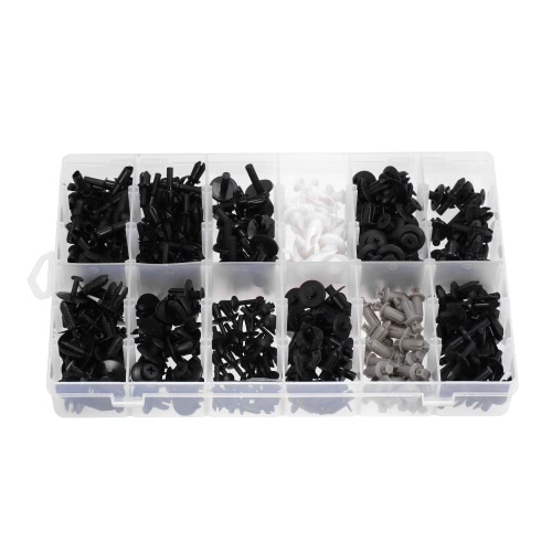 350pcs Car Plastic Push Retainer Pin Rivet Trim Clip Assortments KitCar Accessories<br>350pcs Car Plastic Push Retainer Pin Rivet Trim Clip Assortments Kit<br>