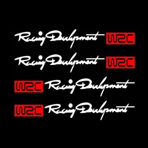 4pcs Rear-view Mirror WRC Car Body Styling Sticker Removable WaterproofCar Accessories<br>4pcs Rear-view Mirror WRC Car Body Styling Sticker Removable Waterproof<br>