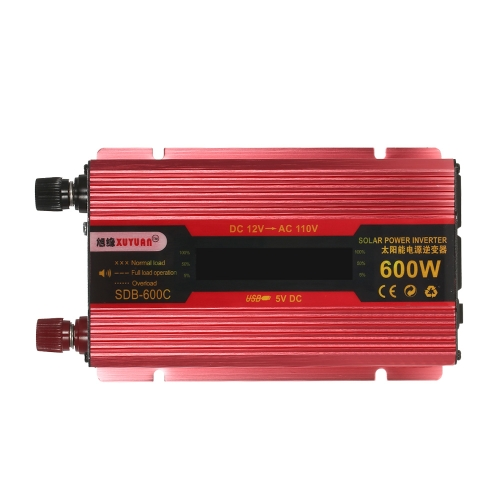 600W WATT Peak Car LED Power Inverter DC 12V to AC 110V Dual Converter ChargerCar Accessories<br>600W WATT Peak Car LED Power Inverter DC 12V to AC 110V Dual Converter Charger<br>