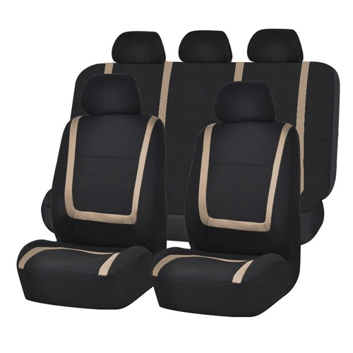 9 Pieces Set Fine-quality Front Rear Mesh Auto Luxury Cloth Leather