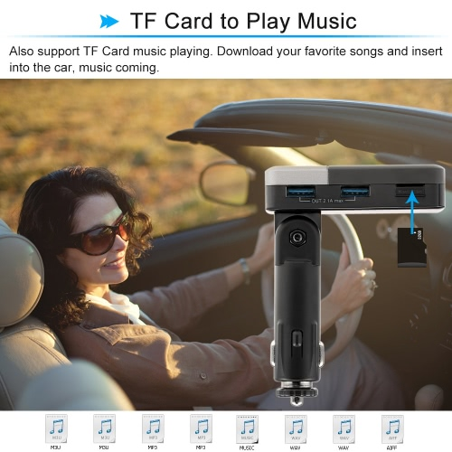Angle Adustable Dual USB 2.1A Car Charger with LED Display Bluetooth Handsfree Call FM Transmitter Music Playing for iPhone GalaxyCar Accessories<br>Angle Adustable Dual USB 2.1A Car Charger with LED Display Bluetooth Handsfree Call FM Transmitter Music Playing for iPhone Galaxy<br>