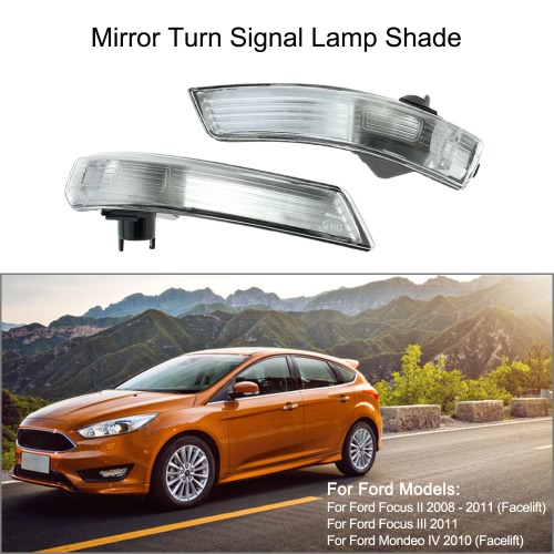 Pair of Mirror Turn Signal Corner Light Lamp Cover Shade Screen for Ford Focus II 2 III 3   MondeoCar Accessories<br>Pair of Mirror Turn Signal Corner Light Lamp Cover Shade Screen for Ford Focus II 2 III 3   Mondeo<br>