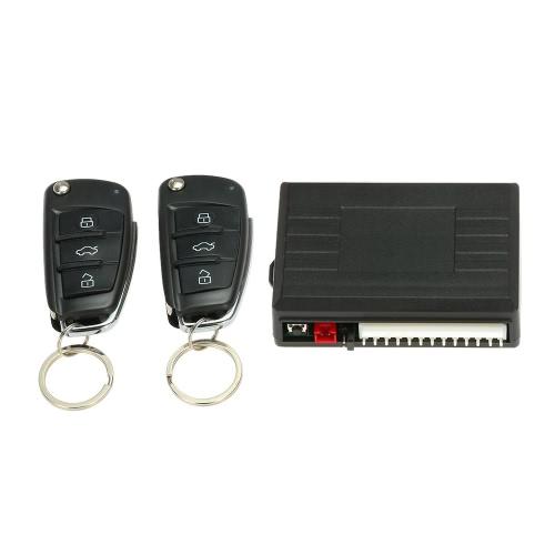 Système de porte d'entrée de voiture universel de verrouillage sans clé avec bouton de déverrouillage du coffre Kit de verrouillage central à distance pour Audi style