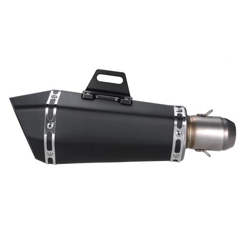 51mm Super Cool tubo de escape Silenciador Negro de acero inoxidable para las motocicletas ATV universal
