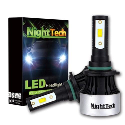 NightTech 2PCs voiture a mené la lumière principale V8 CSP lumière H4 imperméable IP68 voiture a mené la lampe de conduite avec la commutation de phare plongée par faisceau élevé